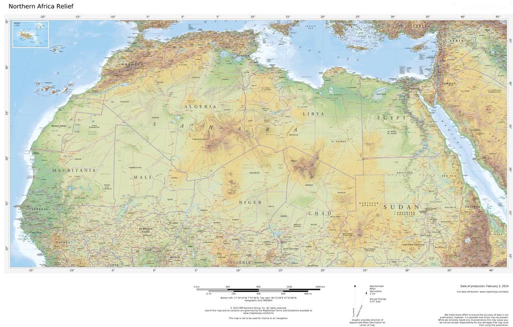 Regional Relief - Northern Africa