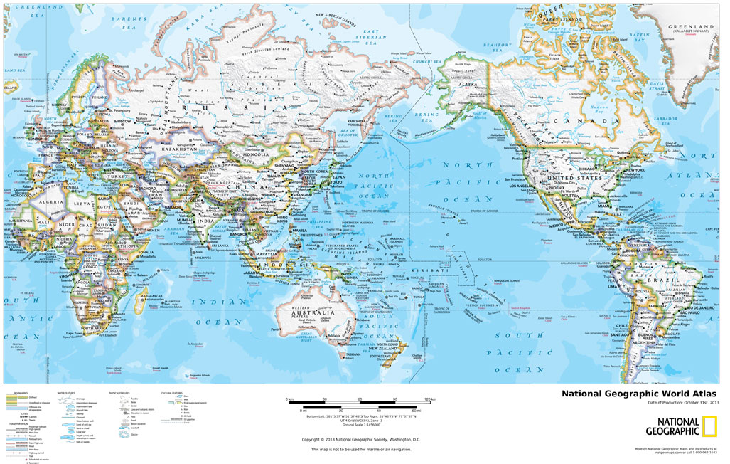 National Geographic Map Of China.National Geographic World Atlas